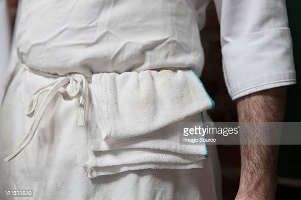 Butcher in uniform, close up