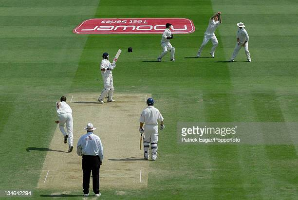 Butcher is caught by Fleming off Martin England v New Zealand 1st Test Lord's May 04
