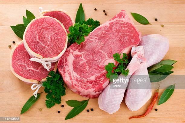 butcher sélection - viande blanche photos et images de collection
