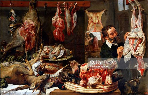 'A Butcher Shop' 1630s Snyders Frans Found in the collection of the State A Pushkin Museum of Fine Arts Moscow