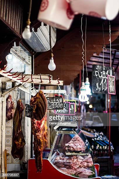 Butcher shop in the Medina