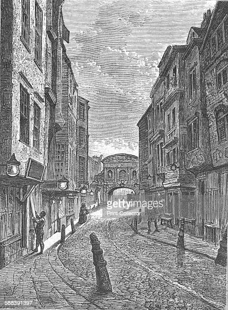 Butchers Row, 1800 . From Old and New London Vol III by Edward Walford. .