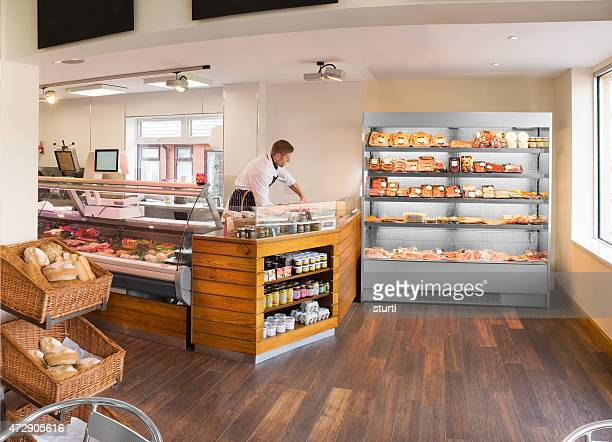 butcher's shop and deli - delicatessen stock pictures, royalty-free photos & images