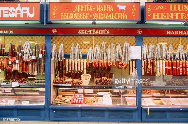 Butcher's shop in Budapest, Hungary