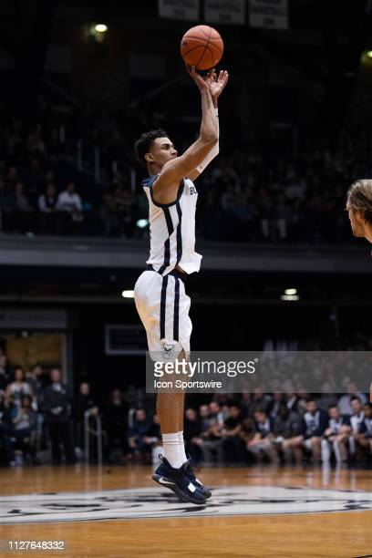 Butler Bulldogs forward Jordan Tucker shoots a three pointer during the men's college basketball game between the Butler Bulldogs and Providence...