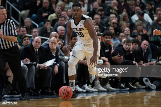 Butler Bulldogs forward KelanMartin brings the ball up on a fast break during the Crossroads Classic basketball game between the Butler Bulldogs and...