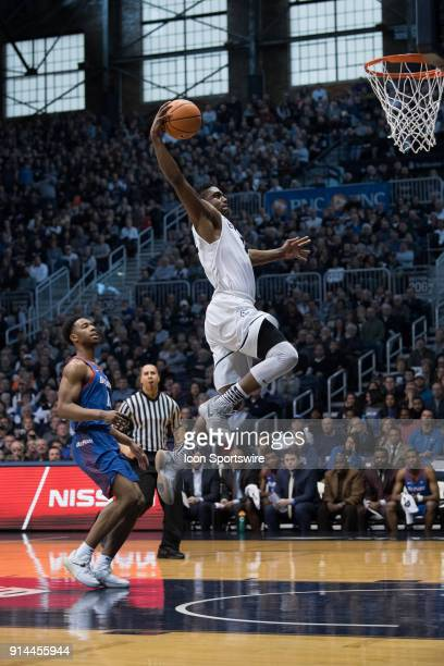 Butler Bulldogs forward Kelan Martin goes up for a dunk on a fast break during the men's college basketball game between the Butler Bulldogs and...