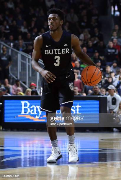 Butler Bulldogs guard Kamar Baldwin with the ball during a college basketball game between Butler Bulldogs and Providence Friars on January 15 at the...