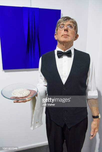 Butler by Marc Sijan at the exhibition preview for the Opera Gallery Hyperrealism at New Bond Street on December 13 2018 in London England