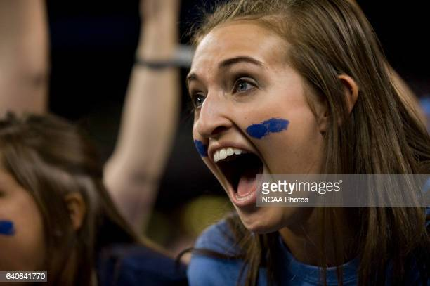 Butler fans celebrate their win during the semifinal game of the 2010 NCAA Photos via Getty Images Final Four Division I Men's Basketball...