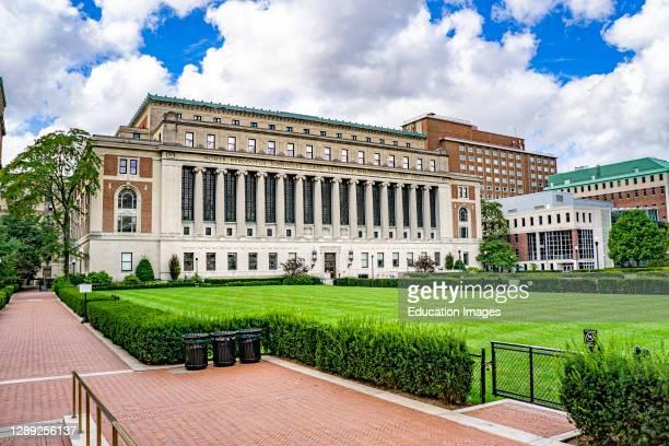Butler Library, Columbia University, New York City, New York, USA.