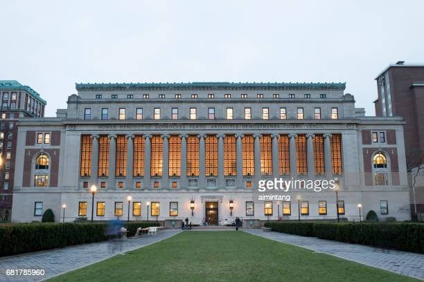 butler library in columbia university - columbia university stock pictures, royalty-free photos & images