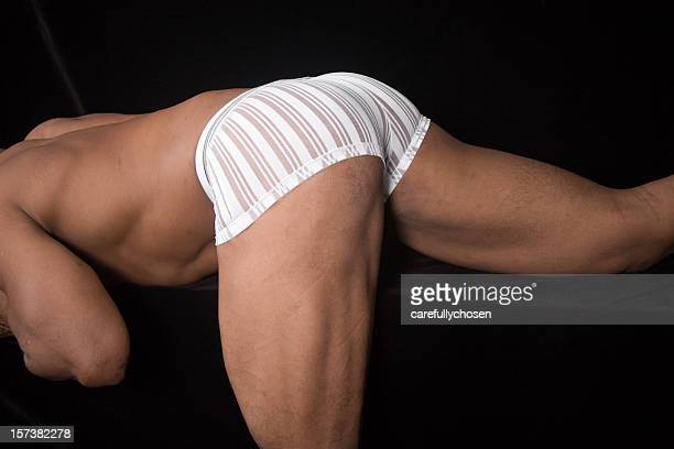 butt and thigh of muscular male