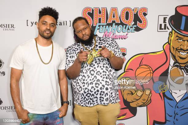 Butta and Bizkit arrive at Shaq's Fun House at Mana Wynwood Convention Center on January 31 2020 in Miami Florida