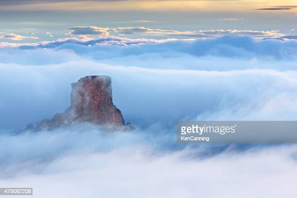 butte in the clouds at canyonlands national park , utah - dead horse point state park stock pictures, royalty-free photos & images