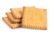 Butter biscuits on white