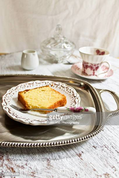Butter cake at tea time...