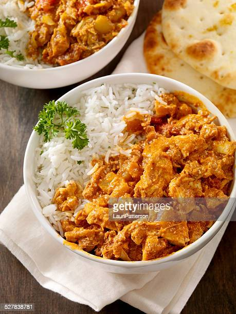butter chicken - chicken tikka stock photos and pictures