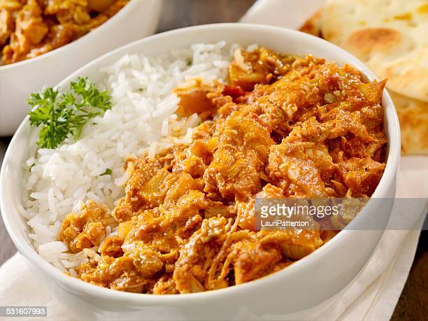 butter chicken - butter chicken stock photos and pictures