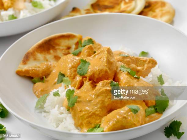 Butter Chicken with Rice and Naan