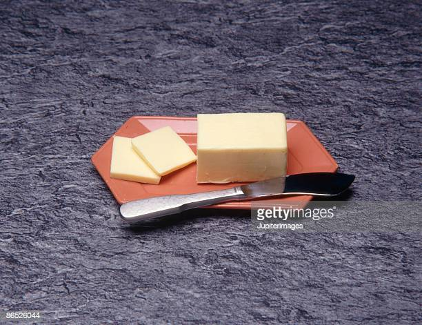 butter on dish - margarine stock pictures, royalty-free photos & images