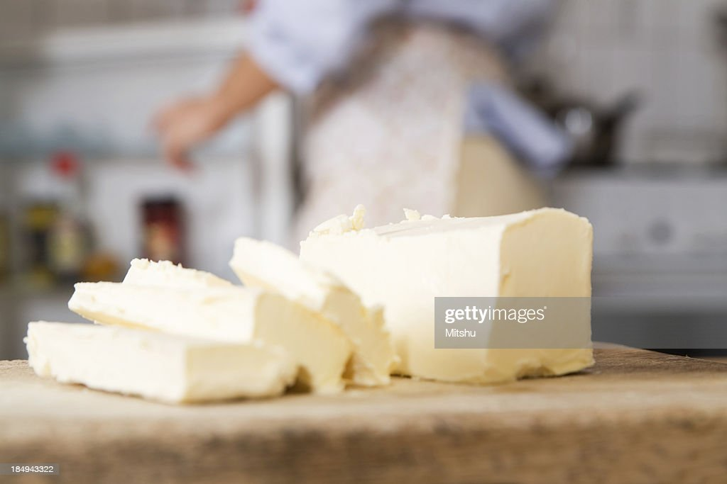 Butter slices : Stock Photo