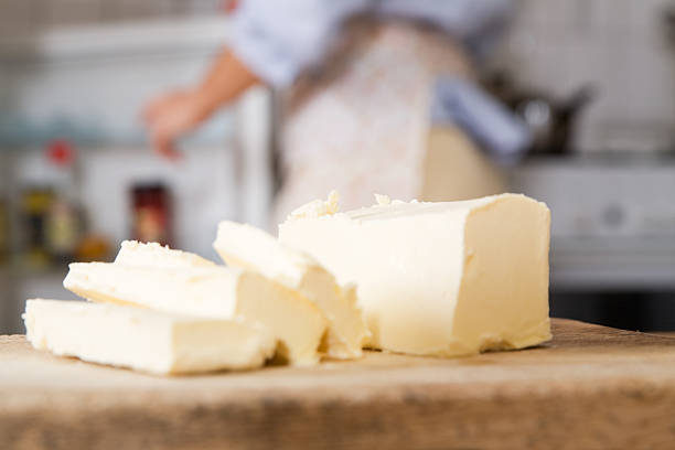 butter slices - margarine stock pictures, royalty-free photos & images