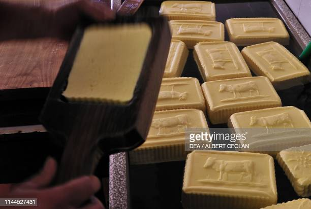 Butter stamping Rabbi Valley TrentinoAlto Adige Italy