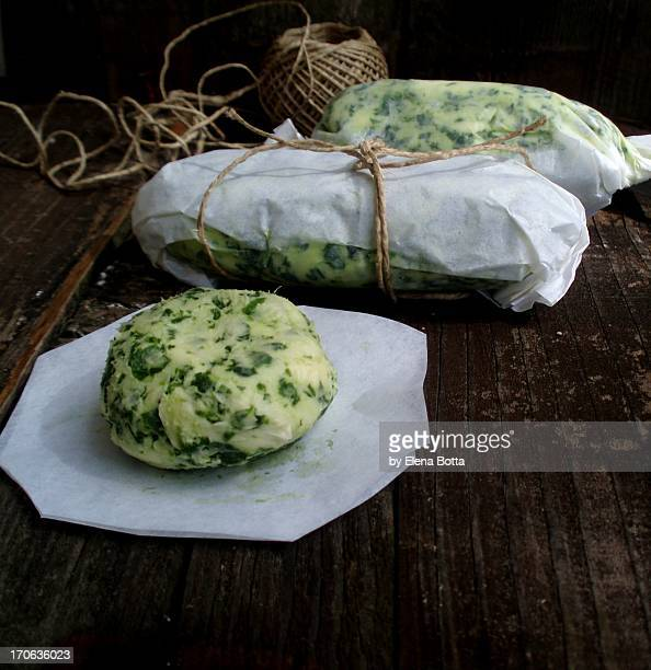 Butter with ramson