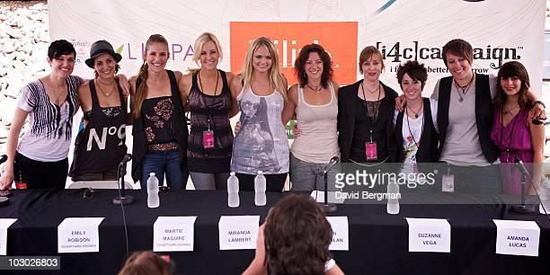 Butterfly Boucher, Chantal Kreviazuk, Emily Robison, Martie Maguire, Miranda Lambert, Sarah McLachlan, Suzanne Vega, Amanda Lucas, Audrey Cecil and...