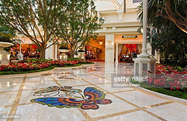 Butterfly Design Inlayed On The Floor Of The Encore Wynn Hotel And Casino Las Vegas Nevada
