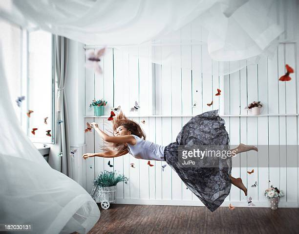 butterfly - skirt blowing stock photos and pictures