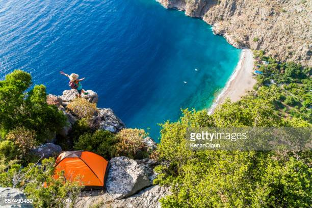 butterfly valley - mugla province stock pictures, royalty-free photos & images