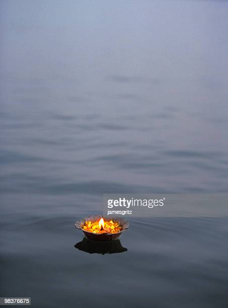 Butterlamp on Ganges
