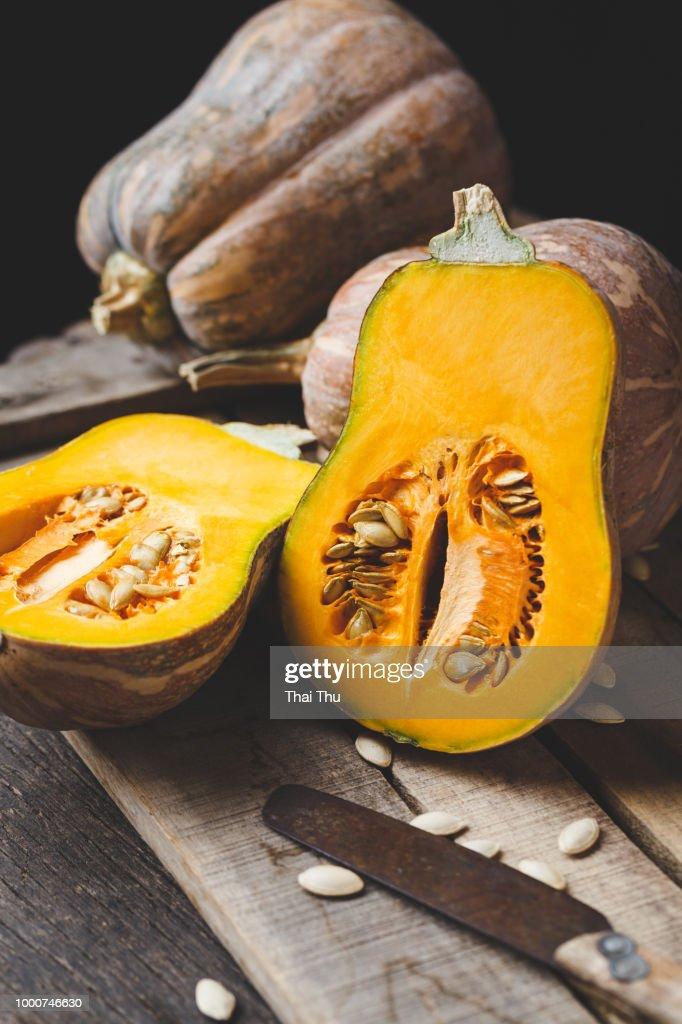Butternut pumpkin slices : Stock Photo