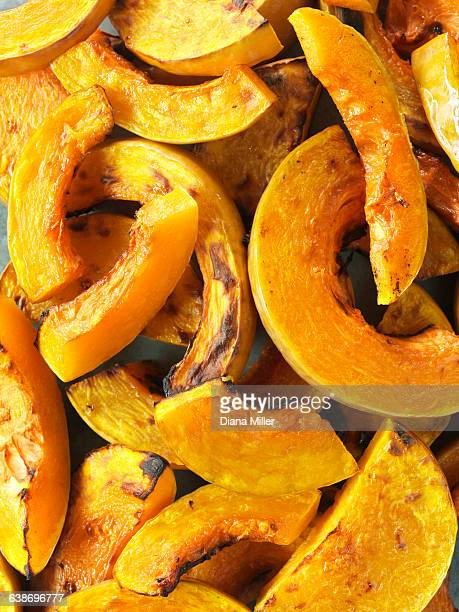 Butternut squash, sliced and roasted