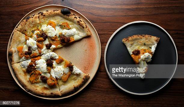 A butternut squash with rosemary ricotta pizza at Inferno Pizza is photographed November 19 2015 in Gaithersburg MD