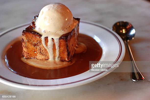 Butterscotch bread pudding is pictured at Eastern Standard in Boston on Oct 30 2015