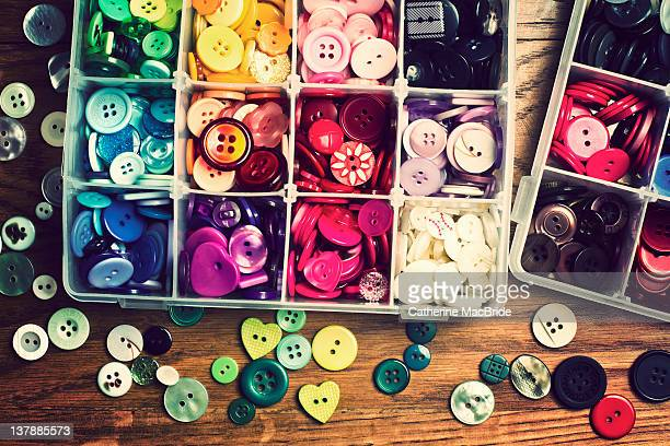 button collection - catherine macbride stock-fotos und bilder