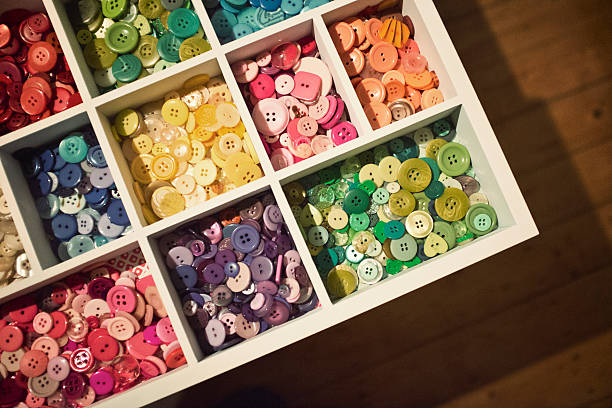 Button Collection Sorted And Stored Wall Art