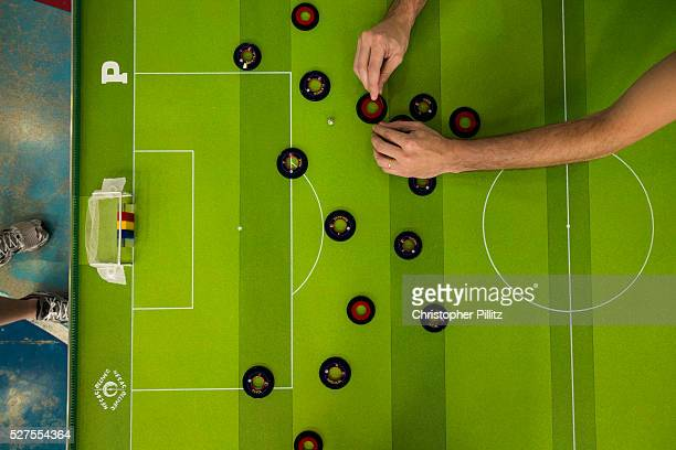 Button football being played in Sao Bernardo do Campo, a satellite city to Sao Paulo, as part of the interstate Championship of this curiously un...