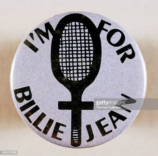 Button supporting Billie Jean King in her Battle of the Sexes tennis match with Bobby Riggs