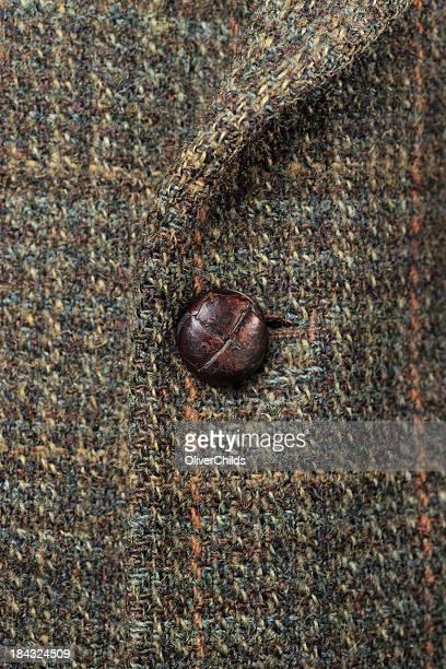 Buttoned Harris tweed chaqueta, los detalles.