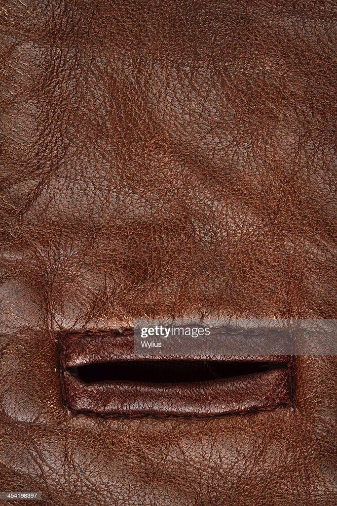 Buttonhole em couro : Foto de stock