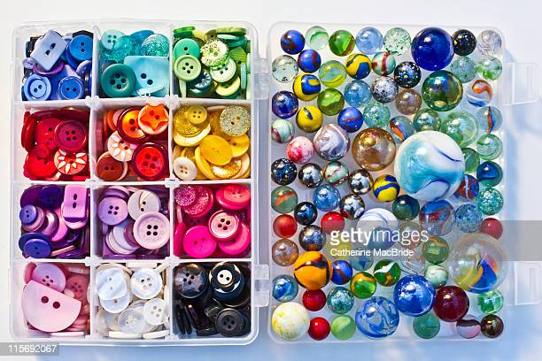 buttons and marbles - catherine macbride stock pictures, royalty-free photos & images