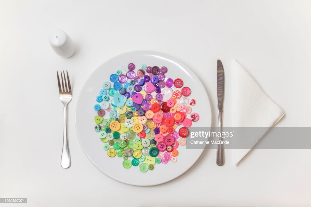 Buttons for Breakfast : Stock Photo
