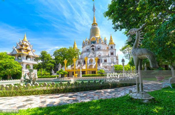 buu long pagoda with nice architecture - pagoda stock pictures, royalty-free photos & images