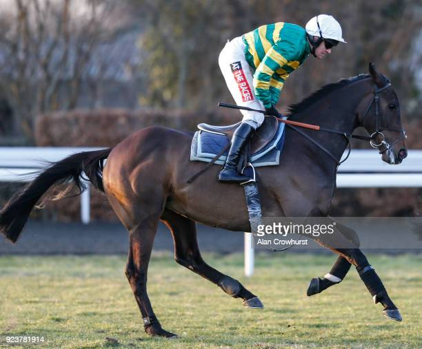 Buveur D'Air galloping after racing at Kempton Park racecourse on February 24 2018 in Sunbury England