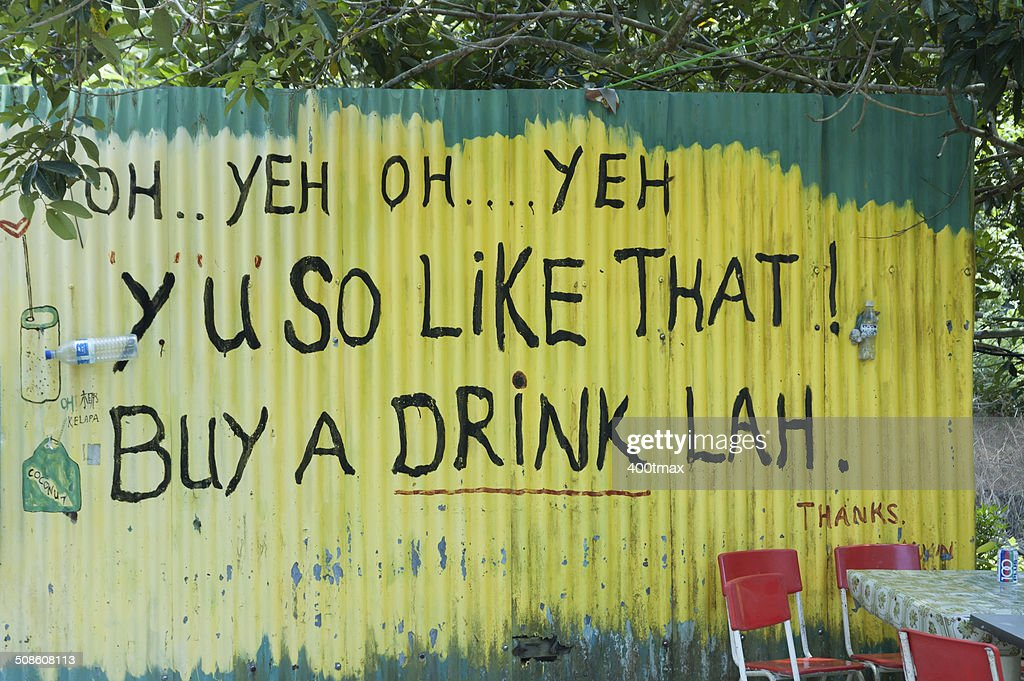 Buy A Drink Lah : Stock Photo