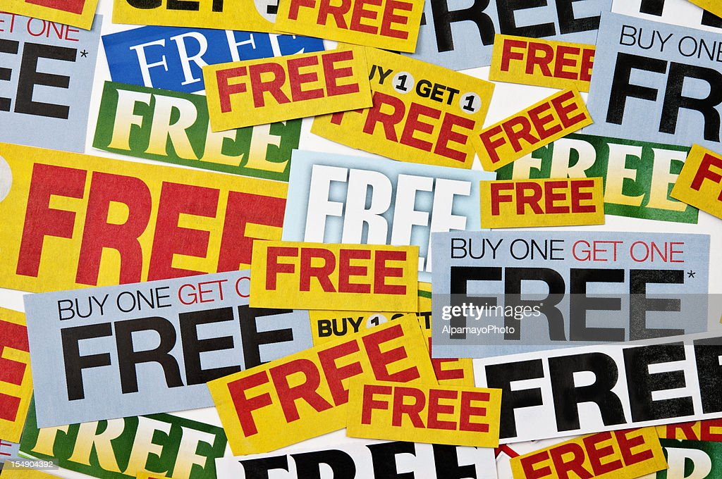 Buy one get 1 free offering (horizontal, mixed) - XII : Stock Photo